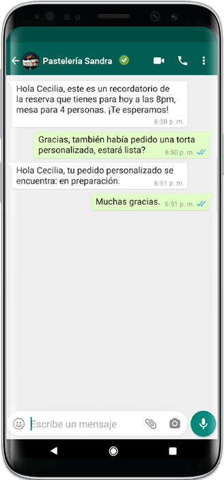 WhatsApp busines API